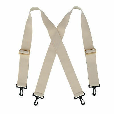 $18.44 • Buy New CTM Elastic Undergarment TSA Compliant Suspenders With Swivel Hook Ends