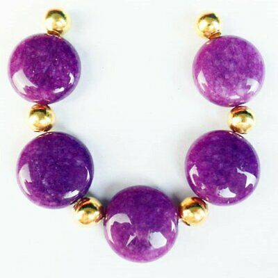 $0.55 • Buy 5Pcs/Set 15x6mm Purple Lepidolite Round Pendant Bead D56072