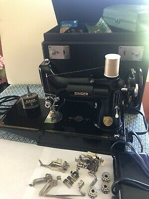 $650 • Buy Vintage 1940's Singer Feather Weight Sewing Machine 221 Plus All Accessories