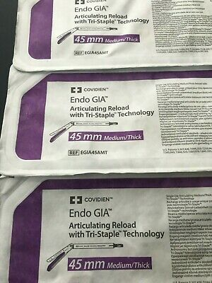 $120 • Buy Lot Of 3 : COVIDIEN ENDO GIA ARTICULATING RELOAD WITH TRI-STAPLE 45mm EGIA45AMT