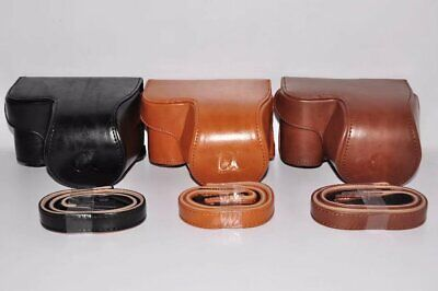 $ CDN13.34 • Buy Retro Leather Case Bag Cover Strap For Sony Alpha A6300 / A6000   16-50mm Lens