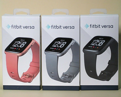 $ CDN91.11 • Buy Fitbit Versa Smartwatch Fitness Activity Tracker With L S Band Black Gold Silver