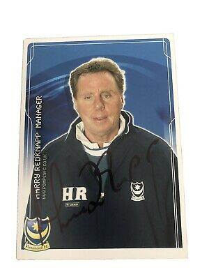 Harry Redknapp Portsmouth FC Signed 8 X 6 Inch Authentic Football Promo Card • 14.99£