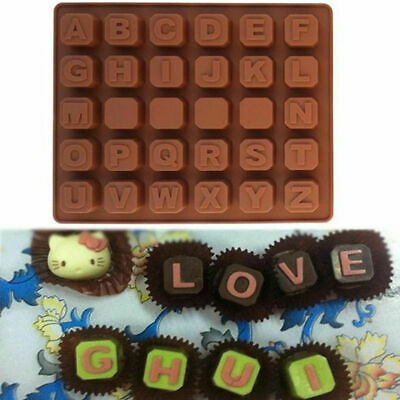 Silicone Alphabet Mould 30 DIY BRICKS NAMES LETTER WORD Chocolate Candy Mold UK • 2.99£