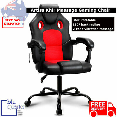 AU224.94 • Buy Artiss Massage Office Chair Gaming Computer Seat Recliner Racer Red
