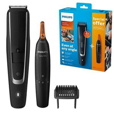 AU176.01 • Buy Philips Series 5000 Beard & Stubble Trimmer With 1000 Nose, Ear & Eyebrow Shaver
