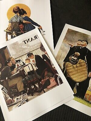 $ CDN58.39 • Buy Norman Rockwell Sat Evening Post 20 POSTERS 16x20 W LG BOX & BOOK Readers Digest