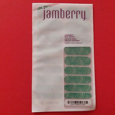AU5.99 • Buy Jamberry Nail Wraps - Full, Unused Sheets - Emerald Lace