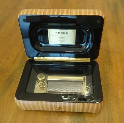 NICE SWISS MADE, MECHANICAL MUSIC BOX By REUGE, WALNUT CASE, BOXED, MANUALS, Etc • 1,950£