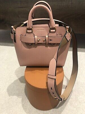 Burberry Pink Leather Small Belt Bag • 630£