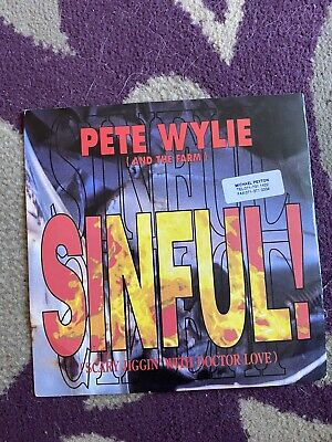 Record Single Pete Wylie Sinful • 1.50£