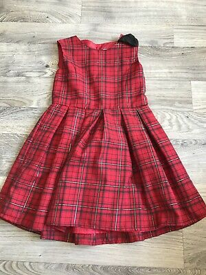 Primark Girls 6-7 Red Checked Party Christmas Occassion Dress • 1.50£