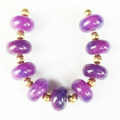 $0.30 • Buy 9Pcs/Set 10x6mm Sugilite Rondelle Pendant Bead D47178