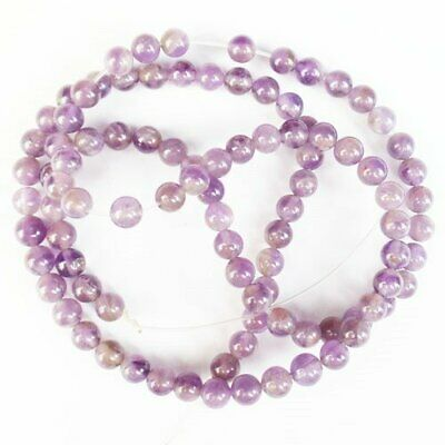 $1.35 • Buy 4mm Purple Lepidolite Ball Loose Bead 15.5 Inch D47190