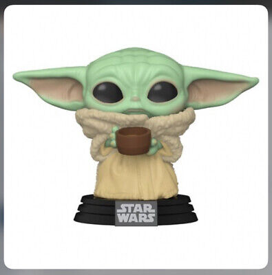 $13.99 • Buy Funko Pop! Star Wars The Mandalorian Baby Yoda W/ Cup W/Protector In Stock
