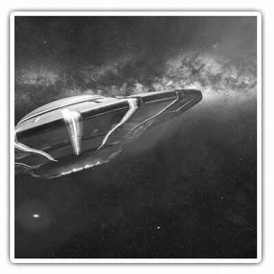 2 X Square Stickers 10 Cm - Alien Spaceship Flying Saucer UFO  #36887 • 2.99£