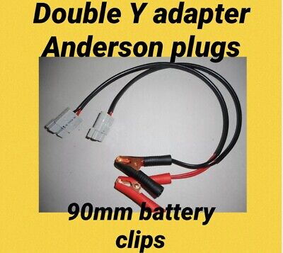 AU42.24 • Buy 1 M Y Double Adaptor  Anderson Style Plug Twin 6mm Cable Alligator Clips