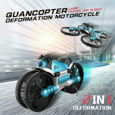 AU89.99 • Buy RC Drone Motorcycle 2 In 1 Foldable Headless Transformer Motorbike With Camera