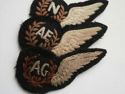 Raf Air Gunners Ag Brevet Half Wing And Two Others • 45£