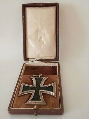 German Ww1 Imperial Iron Cross Medal Second Class And Box • 165£