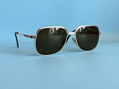 Vintage Rodenstock Silver Steel Rectangular Sunglasses Made In Germany  • 50£