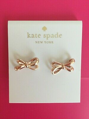 $ CDN28.29 • Buy Kate Spade All Tied Up Stud Earrings With Dust Bag O0RU1766 Bow Nwt