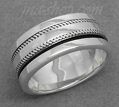 Sterling Silver MEN'S SPINNER WORRY RING KNURLED COIN EDGE SPINNING BAND Sz 7-13 • 28.59£