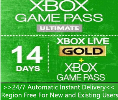 $ CDN3.50 • Buy Xbox Live Gold + Xbox Game Pass (Ultimate) 14 Days 2 Weeks Code Instant Delivery