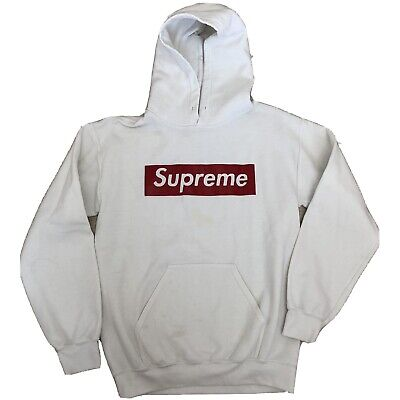 $ CDN35.55 • Buy Bootleg Supreme Hoodie Size Small In White