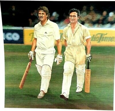Cricket Poster Print Ian Botham Denis Compton Sport Star Legend Vintage Art  • 12.99£