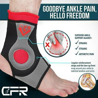 Compression Ankle Brace Support Foot Socks Gel Pad Recovery Pain Stabilizer UK • 9.99£