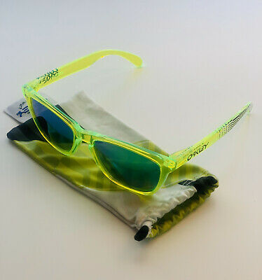 $92 • Buy OAKLEY Frogskins Polarized Rare Acid Green Collector Sunglasses