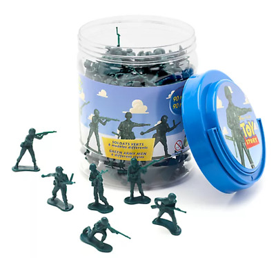 £18.99 • Buy NEW Official Disney Toy Story Green Army Men Bucket O' Soldiers - 90 Piece Set