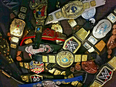$ CDN6.89 • Buy WWE Mattel Jakks Belts Titles Championships Figure Lot Wwf/wcw/ecw Wrestling