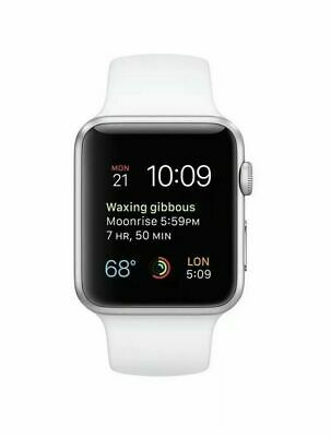 $ CDN296.38 • Buy Apple Watch Series 1,42mm Silver Aluminum Case With White Sport Band