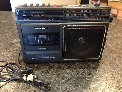 $9.99 • Buy Realistic Portable Ac/dc Am Fm Radio Cassette Player Ctr-83 Model No. 14-758