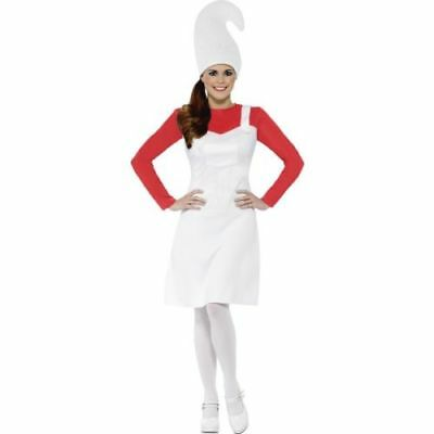 Womens Garden Gnome Costume Red Coral Hen Night Fancy Dress Funny Theme Nights • 4.99£