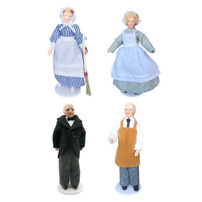 $ CDN34.91 • Buy 4 Pieces 1/12 Scale Dolls House Porcelain Doll Model Little Decor Toys