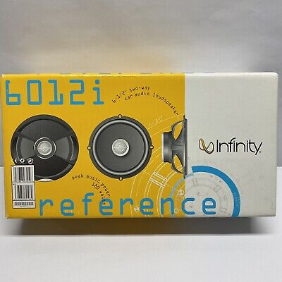 """$49.99 • Buy Infinity Reference 6012i Car Audio Stereo Speakers 6-1/2"""" 2-way"""