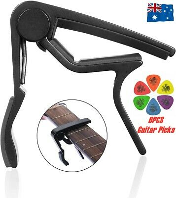 AU6.90 • Buy Guitar Capo Spring Trigger Electric Acoustic Ukulele Quick Change&Guitar Picks