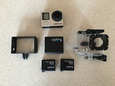 AU60 • Buy GoPro Hero 4 Black Edition Action Camera With 2 Batteries And Extras