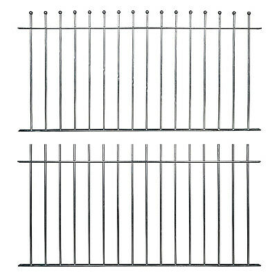 £114 • Buy Ready Made Fence Panels & Posts Ball Top Plain Top Galvanised Metal Iron Steel