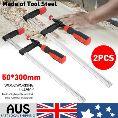 AU15.99 • Buy 2pcs Adjustable F Clamps Wood Woodworking Clamp Clip Bar Clamps 50x 300mm