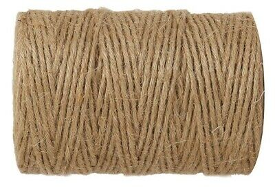 10m-900m 3 Ply Natural Brown Soft Jute Twine Sisal String Rustic Shabby Cord • 1.99£