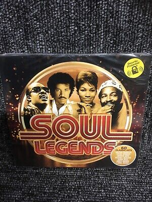SOUL LEGENDS  TRIPLE CD -  60 CLASSIC HITS NEW AND SEALED 3 Cd Box Set. • 4.90£