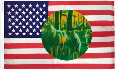 $13.25 • Buy  USA WOLVES & RIDING INDIANS  3x5 Ft Flag Polyester