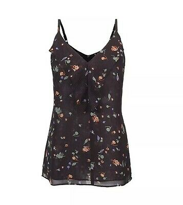 $36 • Buy New Cabi Pinstripe Floral Cami V Neck Style 3607 Size XS NWT!
