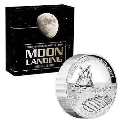 AU529 • Buy 2019 50th Anniversary Of The Moon Landing 5oz High Relief Silver Proof Coin