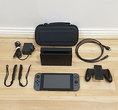 AU740 • Buy Unpatched Nintendo Switch Low Serial With Accessories - Grey - Free Postage PAL