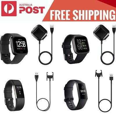 AU11.95 • Buy USB Charger Cable Charging For FitBit Versa / Versa 2 / Charge 2 / Charge 3